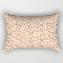 Orange polyhedra Rectangular Pillow