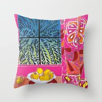 matisse Throw Pillows featuring Matisse version by bbay
