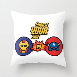 Choose your Side! Throw Pillow