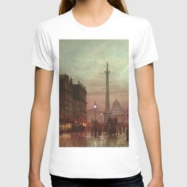 Whitehall at Twilight, Westminster, London, England by Louis H. Grimshaw T-shirt