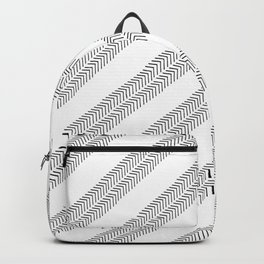 Black white watercolor hand painted geometrical chevron zigzag Backpack