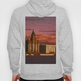 Liverpool Waterfront at Sunset (Digital Art) Hoody
