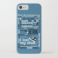 sam winchester iPhone & iPod Cases featuring Supernatural - Sam Winchester Quotes by natabraska