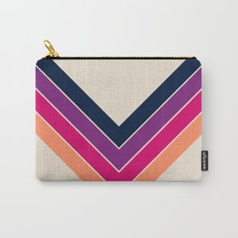 Colorful V Shape Retro Summer Stripes Sosamsin Carry-All Pouch