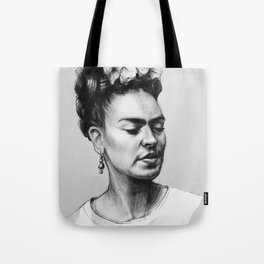 Portrait of Frida Kahlo Tote Bag
