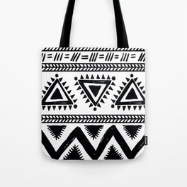 Tribal black and white Tote Bag