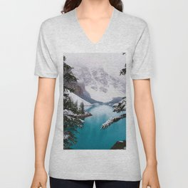 Paradise in the Mountains (Color) Unisex V-Neck