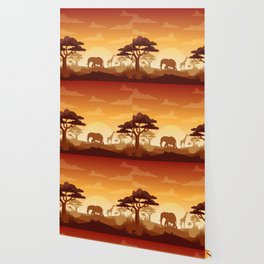 Abstract African Safari Wallpaper