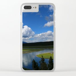 Meadow With Yellowstone River Clear iPhone Case