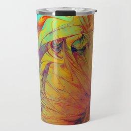 Sunflower Abstract Travel Mug