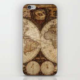 Vintage Map of the World iPhone Skin
