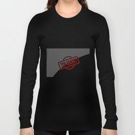 Top Secret Half Covered Ink Stamp Long Sleeve T-shirt