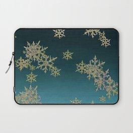 """MORE SNOW"" TEAL BLUE ART DESIGN Laptop Sleeve"
