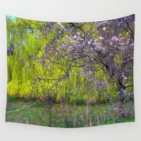 monet Wall Tapestries featuring influence: monet by EnglishRose23