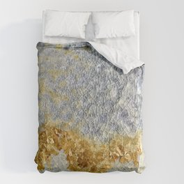 Gold Covered Mountains Comforters