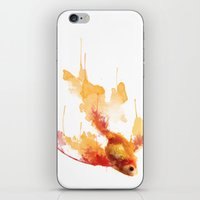 goldfish iPhone & iPod Skins featuring GoldFish by Carlos Asensi