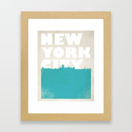New York City Bold Skyline Framed Art Print