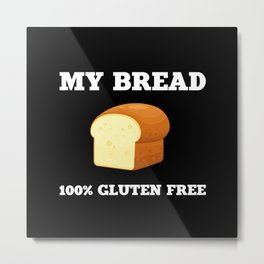 Live Gluten Free Bread Baking Food Metal Print