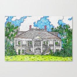 Evergreen Plantation Canvas Print