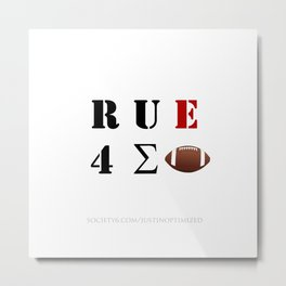 Are You Ready For Some Football (cryptic) Metal Print