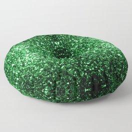 Glamour Dark Green glitter sparkles Floor Pillow