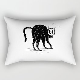 Creepy Black Cat  Rectangular Pillow