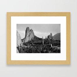 Garden of the Gods Framed Art Print