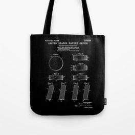 Hockey Puck Patent - Black Tote Bag