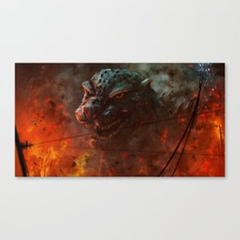 Baptized in the Fires of the H-bomb Canvas Print