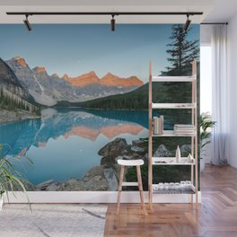 MORAINE LAKE SUNRISE BANFF NATIONAL PARK CANADA LANDSCAPE PHOTOGRAPHY Wall Mural