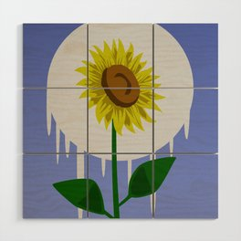 Sunflower in the Moon Wood Wall Art