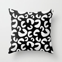 Curlicues (bw) Throw Pillow