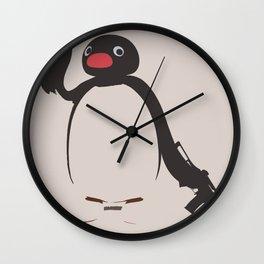 Ghetto Pingu Wall Clock