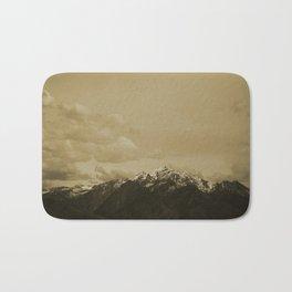Utah Mountain in Sepia Bath Mat