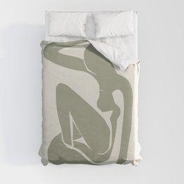 Sage Green Matisse Art, Matisse Abstract Art Decor Duvet Cover