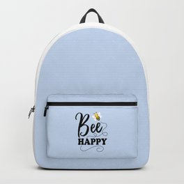 Bee Happy, Cute Fun Positive Quote Backpack