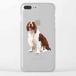 Springer Spaniel Art Clear iPhone Case