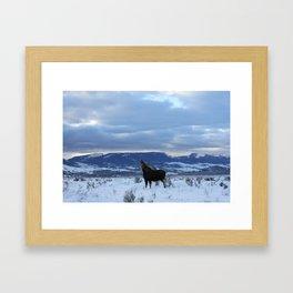 Moose at Antelope Flats Framed Art Print