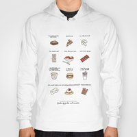 parks and rec Hoodies featuring Foods of Parks and Rec by Tyler Feder
