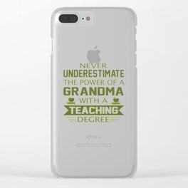 Grandma Teacher Clear iPhone Case
