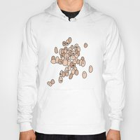 eggs Hoodies featuring Eggs by Marc Mif