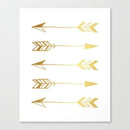 Faux gold foil arrows Canvas Print