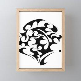 abstract swirl Framed Mini Art Print