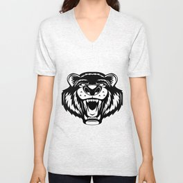Grizzly Bear Unisex V-Neck