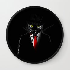 Mobster Cat Wall Clock