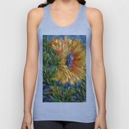 Sunflower Painting Unisex Tank Top
