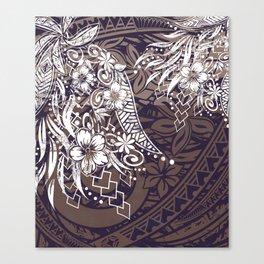 Polynesian Tribal Tapa Threads Canvas Print