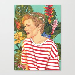 Flower Boy Isak Canvas Print