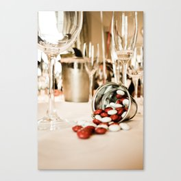 CELEBRATE (STILL LIFE - Wine Glasses - M&M's - Zinc Bucket) Canvas Print