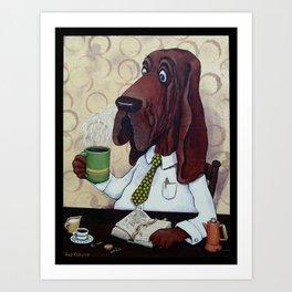 Coffee Hound Art Print